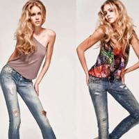 Как модно носить джинсы