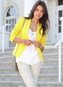 Желтый пиджак с чем носить