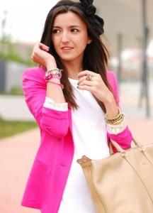 Розовый пиджак с чем носить