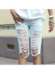 Джинсовые бриджи с чем носить