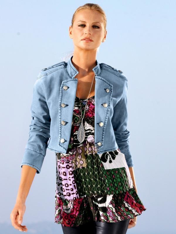 Джинсовый пиджак с чем носить