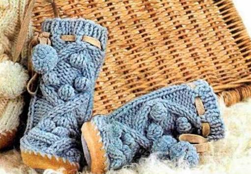 С чем носить вязаные сапоги