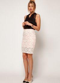 Гипюровая юбка с чем носить