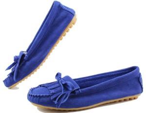 Синие мокасины с чем носить