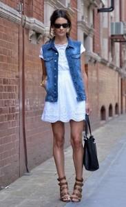Джинсовый жилет с чем носить