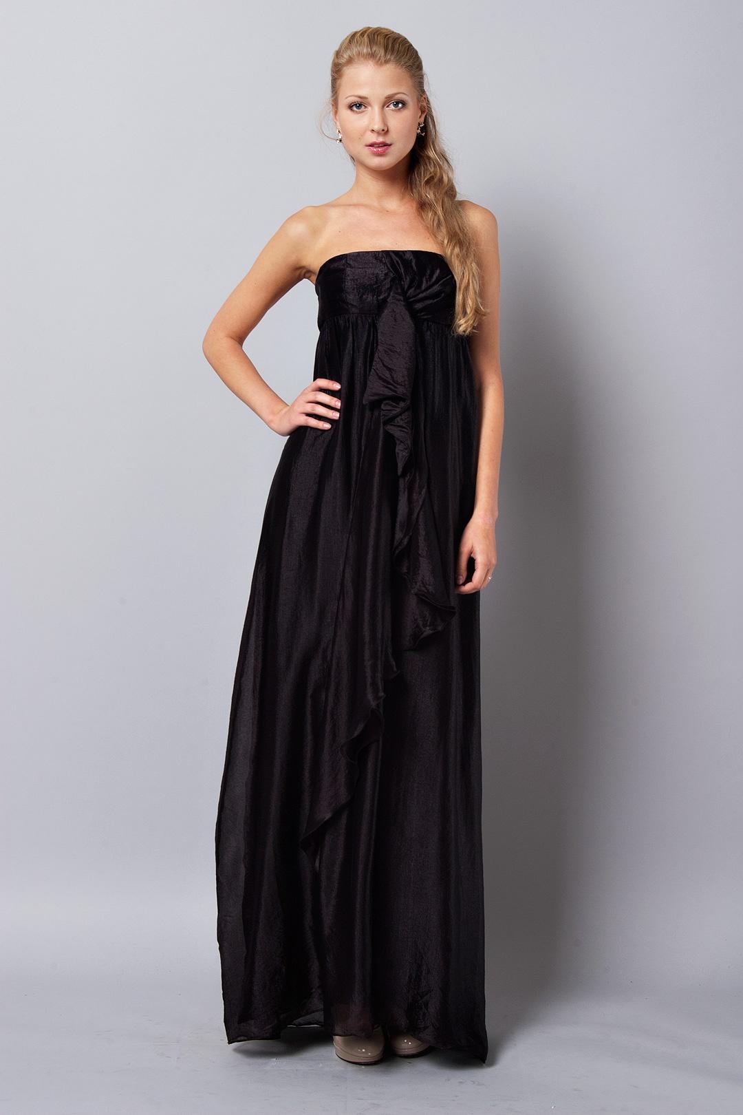 Черное Вечернее Платье В Пол 70
