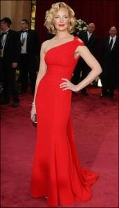 Платье красное в пол
