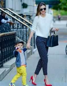 Миранда Керр и ее сына в Нью-Йорке