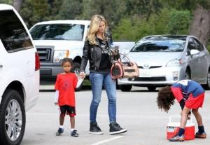 Хайди Клум заботливая мать