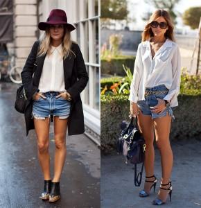 С чем носить короткие шорты