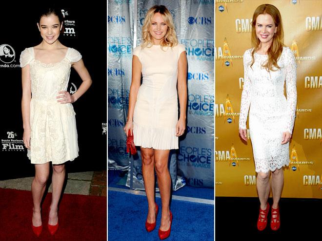 Фото с чем надеть белое платье