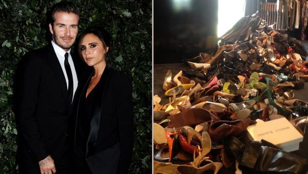 Виктория и Дэвид пожертвовал одежду для Филиппин