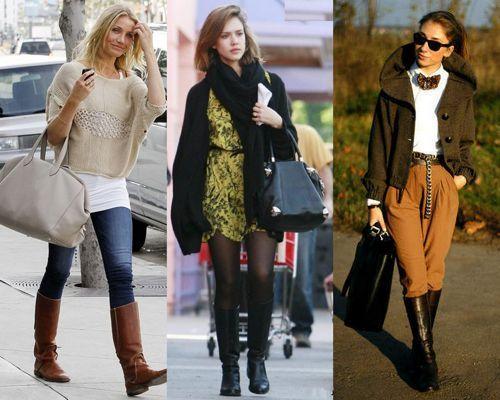 Модные жокейские сапоги, с чем носить?