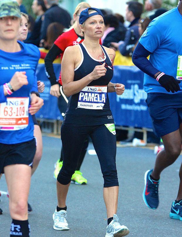 Памела смогла пробежать весь марафон в Нью-Йорке