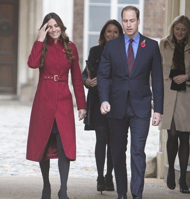 Герцогиня Кембриджская на встрече с военнослужащими