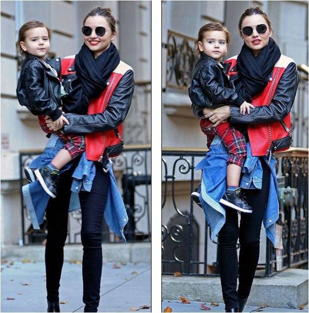 В чем была одета Миранда Керр на прогулке с сыном?