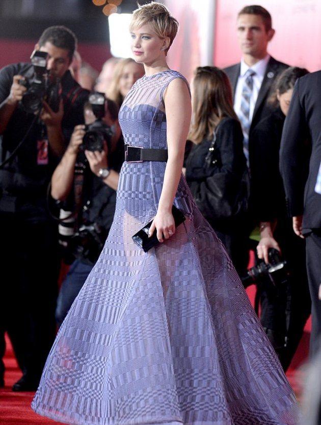 """Дженнифер Лоуренс побывала на премьере """"Голодных игр"""""""