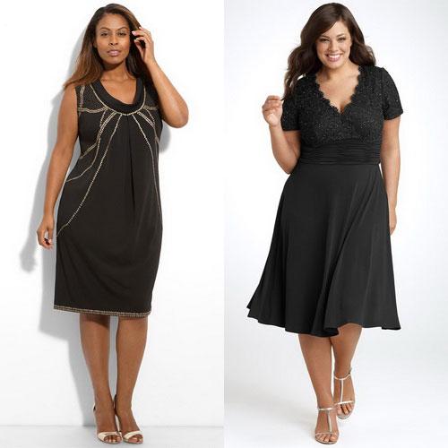 Нарядные и модные платья для полных женщин