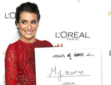 Во что была одета Леа Мишель на мероприятии от L'Oreal Paris?