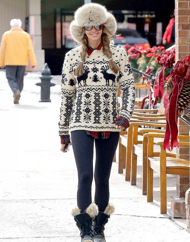 Эль Макферсон всегда следует тенденциям моды