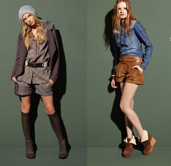 С чем носить модные шорты зимой?