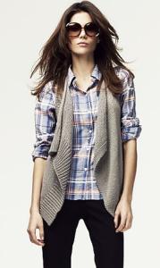 С чем носить вязаную жилетку?