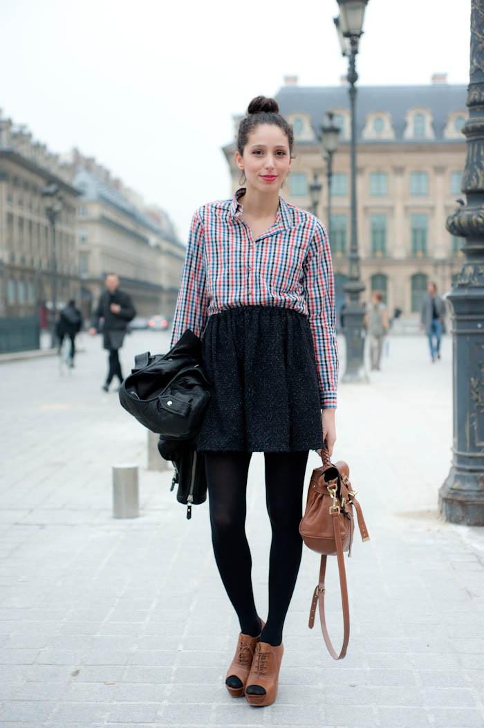 С чем носить модную шерстяную юбку?