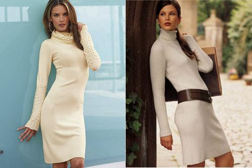 Трикотажное платье, с чем носить?