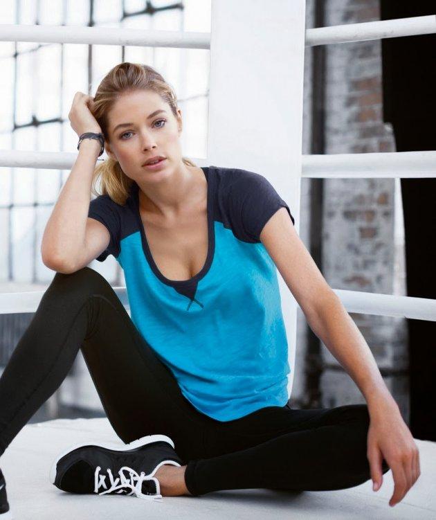 Доузен Крус снялась для новой линии спортивной одежды