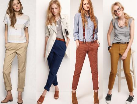 Коричневые брюки, с чем их носить?