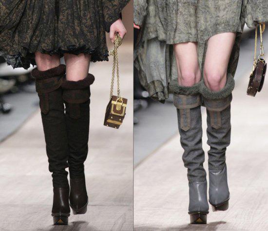 Модные высокие сапоги – с чем носить?