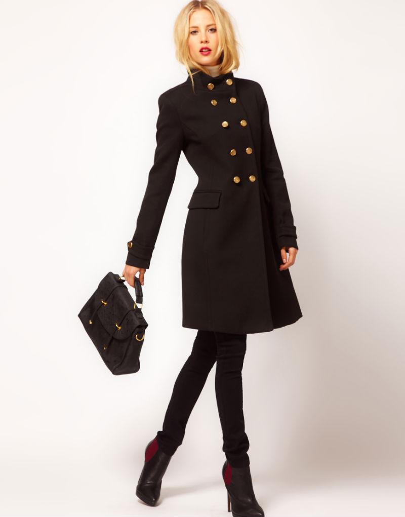 С чем носить модное пальто милитари?