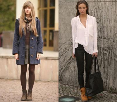 С чем носить модные тимберленды девушкам?