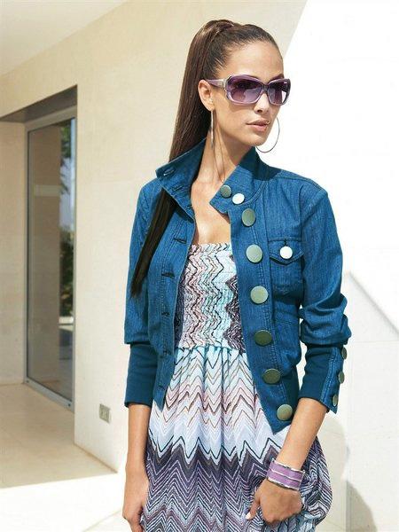 Синяя куртка, с чем носить?