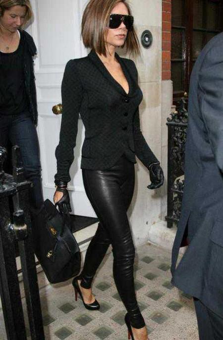 С чем носить стильные кожаные лосины?