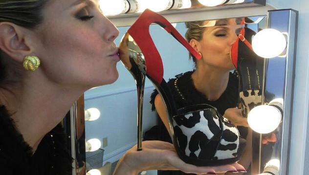 У Хайди Клум 2000 пар обуви!