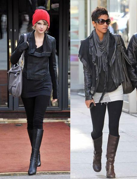 С чем носить черную куртку?