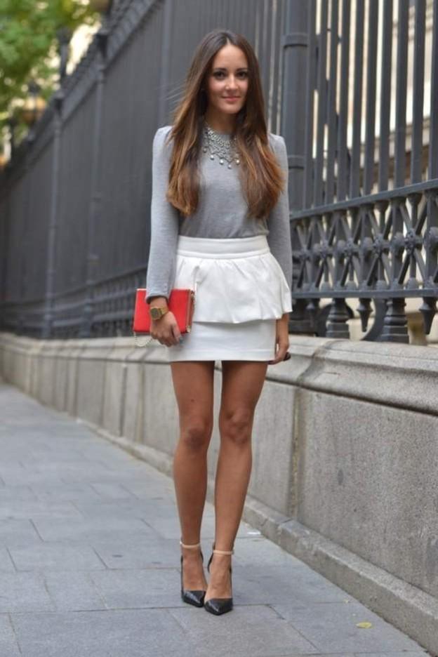 С чем носить юбку с баской?