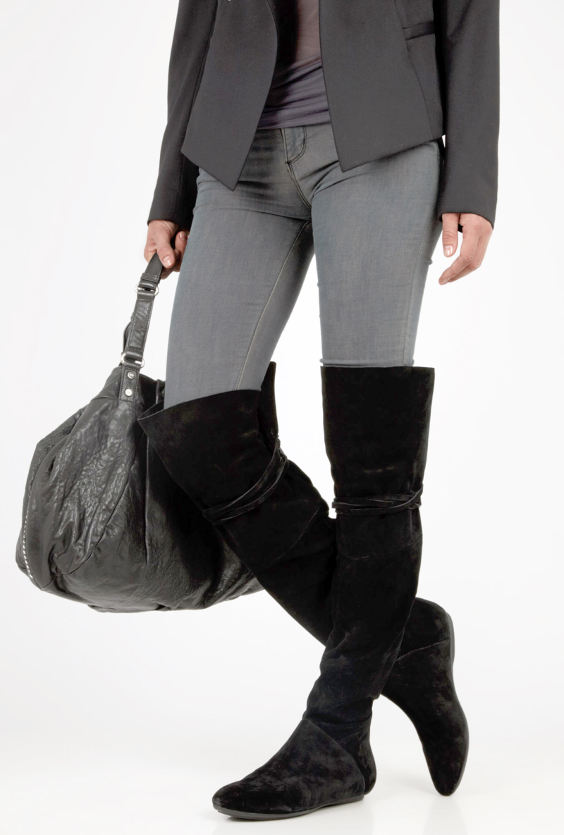 С чем носить сапоги ботфорты?