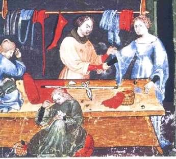 Крой одежды в эпоху Средневековья