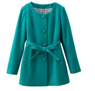 С чем носить бирюзовое пальто?