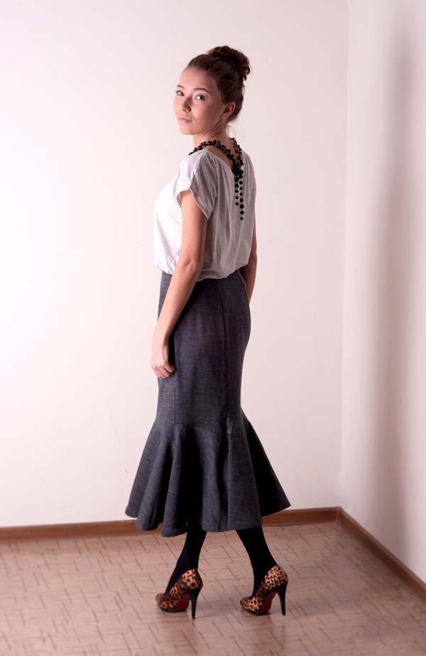 С чем носить юбку годе?