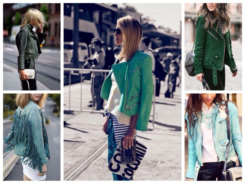 Несколько луков с зеленой курткой