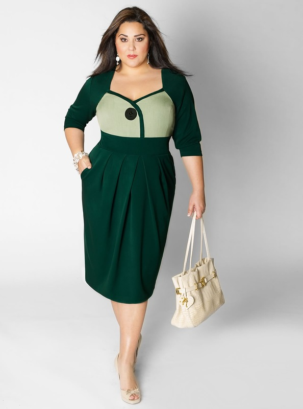 Красивые платья для полных девушек 7
