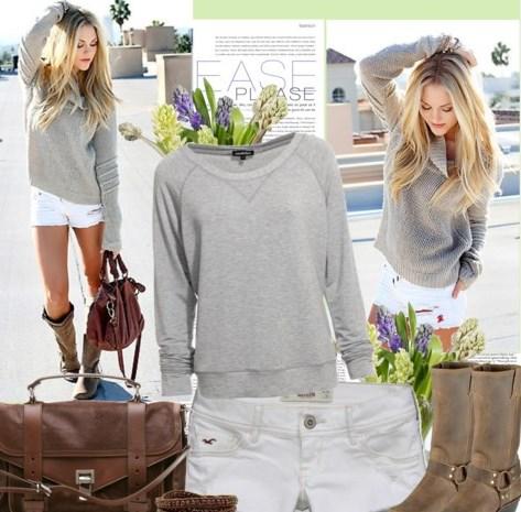 С чем сочетать серый цвет в одежде