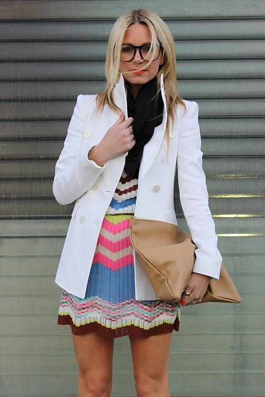 С чем носить белый пиджак?