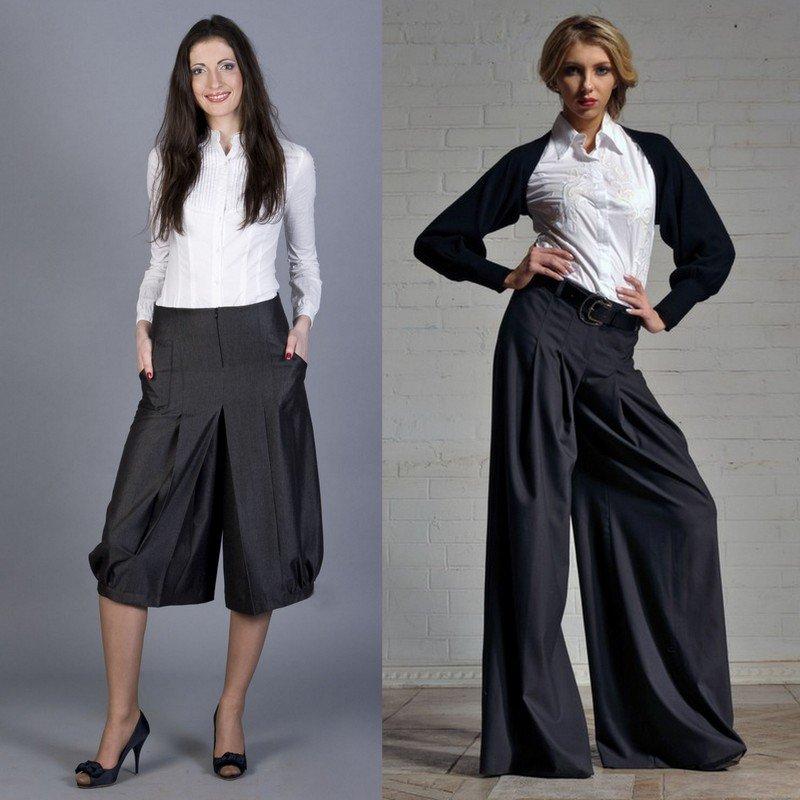 С чем носить брюки - кюлоты?