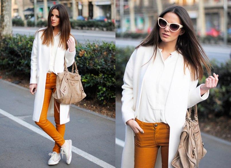 С чем носить белые кеды?