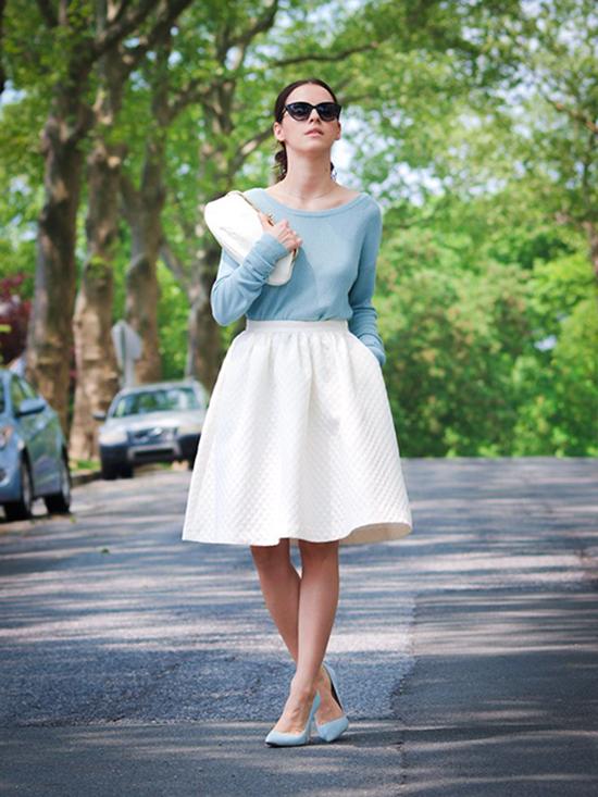 С чем носить пышную юбку?