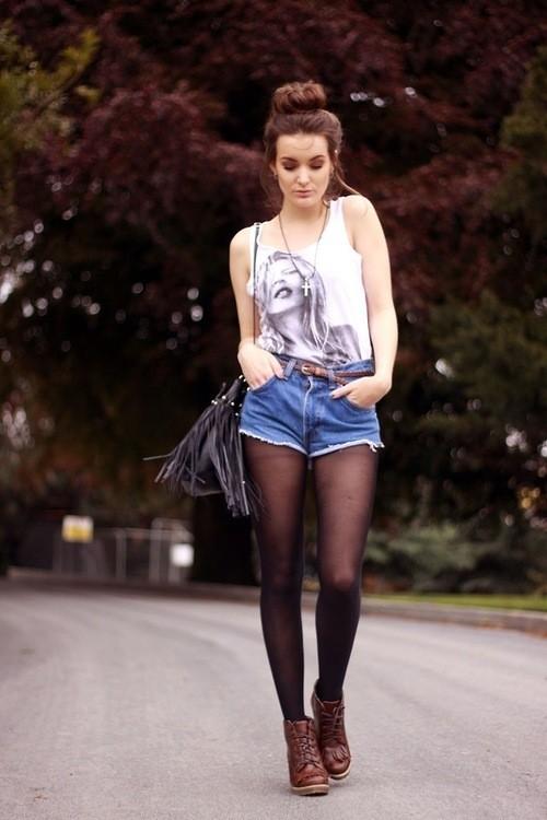 С чем одеть короткие шорты